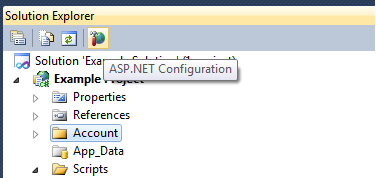 ASP.NET Configuration Location in VS2010