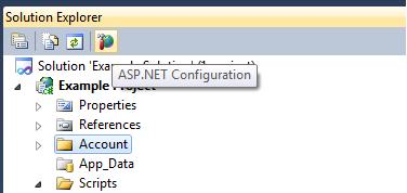 ASP.NET Configuration Location in VS2010