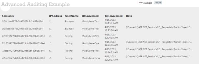 Advanced Audit Log