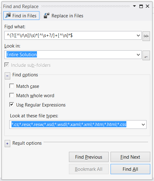 Matching Lines using a Regular Expression
