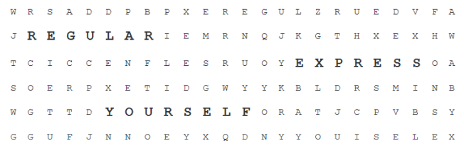 You can use the RegExpBuilder library to create human-readable Regular Expressions.