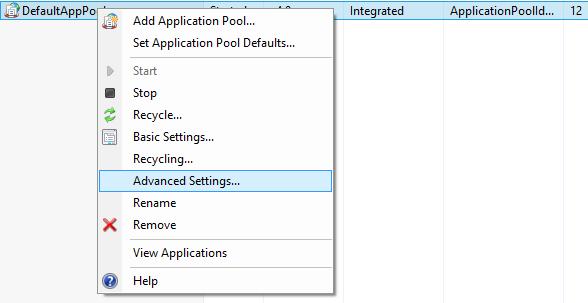 ApplicationPoolAdvanced